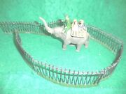 Taylor And Barrett 1940s 7-piece Lead Elephant Ride Zoo Set.+ 6 Zoo Fencing