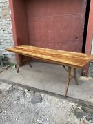1920s Myers Folding Farm Cafeteria Table Farmhouse Primitive Country Wisconsin