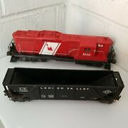 Lionel Central Railroad Company Of Nj 8550 Locomotive And Lehigh Valley Hupper