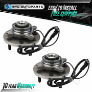 Pair Front Wheel Hub Bearing 7 Stud For 2011 2012 2013 2014 Ford F-150 2wd 4wd
