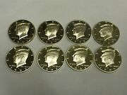 1992-1999 Silver Kennedy Half Dollar Run 8 Coins - Directly From Proof Sets