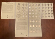 1999-2009 - 50 State And Territorial Quarter Coin Album Complete Set - 2 Folders