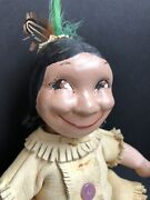 Vintage Reproduction Of Antique American Composition Skookum Doll