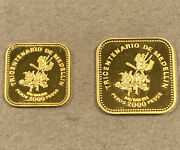 1975 Colombia 1000 And 2000 - Medellin 300th Anniversary Gold Coin Set