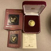 2000 Australia - Gold 100 Dollar Coin - 1/3 Oz. - Floral Cooktown Orchid - Proof