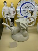 Exclusive Russian Imperial Lomonosov Porcelain Teapot Harley Motorcycle White