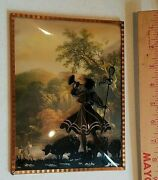 Vintage Painted Wall Hanging Picture Of Bubble Silhouette Picture