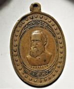 1888 Benjamin Harrison Political Campaign Token Medal Bh 1888-12 Brass 25x38mm