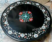 42 Inches Royal Pattern Inlay Conference Table Top Round Marble Dining Table