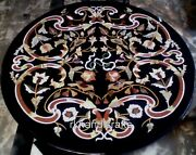 42 Inches Marble Dining Table Top Hand Made Restaurant Table With Vintage Crafts