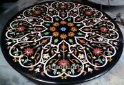 42 Inches Marble Hotel Table Top With Heritage Art Stone Patio Dining Table