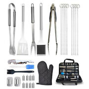 20xoutdoor Bbq Combination Cooker 28 Sets Of Cloth Bag Stainless Steel Barbecue