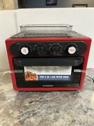 Red Iron Chef Geoffrey Zakarian Pro 8 In 1 Air Fryer Convection Oven Aircrisp