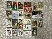 Lot Of 25 Antique Valentine Postcards Featuring 'couples, Kids And Ladies'