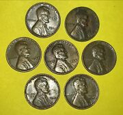 1941p 1944p 1945p 1946 P - 7 Lincoln Pennies One Cent Wheat Penny 1940s Coins