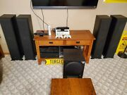 Sony Home Sound System Str-dn1040 4 Ss-f7000p 8 Tower Speakers Sa-wx700 Sub