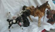 Made In Japan Syroco Horse Figurines  1950's Set Of Five