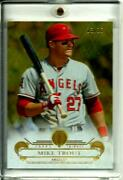 Mike Trout 2014 Topps Tribute Gold 33 Sp D 13/25 Sharp Rarely Seen Angels