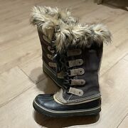 Sorel Joan Of Arctic Waterproof Faux Fur Lined Calf High Lace Up Boots Womenand039s 7