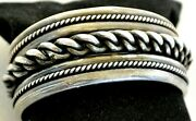 7 Frank Patania Thunderbird Shop Rope Bracelet Sterling Silver Wide Heavy