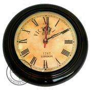 Antique Style Wooden Wall Clock Victoria Station 12 Nautical Home Decor Gift