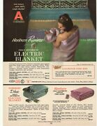 1966 Northern Electric Blanket, Bates Bedspreads Double Sided Advertisement