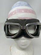 Vintage Aviator Racing Leather Climax Espana Goggles Collectible Steampunk