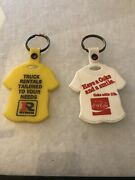 Keychain Lot Of 2 Plastic T-shirt Key Fob Ryder Truck Rental And Coca Cola