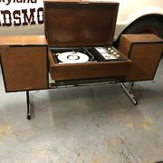 1960s Flip-up Vintage Zenith Record Player Console Am/fm Tuner Stereo Very Rare