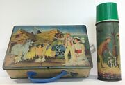 1960and039s Mary Poppins Metal Lunch Box And Thermos From India Ultra Rare By Eagle
