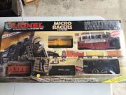 Lionel Micro Racers Express O27 Guage Train Set Track Cars Vintage 1989