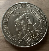 999 Silver 5 Oz Pan Pac Panama-pacific Exposition San Francisco Round
