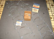 Vintage Campbell Tire Chains W/ Rubber Adjuster Set Pittsburgh Steel