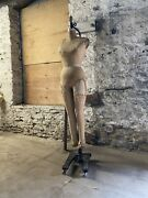 Antique Wolf Industrial Full Body Dress Form W/ Stand Union Made Mannequin