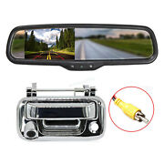 Chrome Handle Backup Camera 4.3 Mirror Monitor For Ford F150 04-14 Super Duty