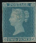 Sg14 Scarce 2d Blue-plate 3- - Lightly Mounted Mint With Certificate -cat Andpound6500