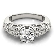 Real 0.60 Ct Diamond Wedding Ring For Valentine Gift 14k White Gold Ring Size 7