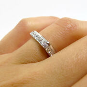 Unique 2.00 Ct Real Diamond Wedding Band For Bridal Solid 14k White Gold 6 7 8