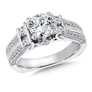 Valentine Sale 1.40 Ct Real Diamond Wedding Ring Solid 14k White Gold Size 7 8 9