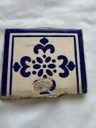 Vintage Salvaged Tile Signed Victoria Hotel Chihuahua Mexico