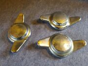 Vintage Mg 2pcs Right Side And 1pc Left Side Wire Wheel 2 Eared Knockoff Spinner