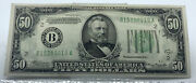 1934 50 Federal Reserve Note Green Seal New York Ny Us Banknote B15389019a