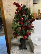 Valerie Parr Hill Indoor/outdoor Lighted 34andrdquo Holiday Cheer Urn Tree