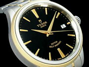 Tudor Style 12503 Date Black Dial Automatic Menand039s Watch Ex++ Rare
