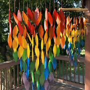 Leaves Rainbow Wind Chimes Perfect Chimes Decor For Outside Garden Backyard