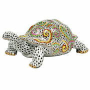 Herend Hungary Porcelain Turtle 15972vhsp20 Fishnet Brand New Limited Edition
