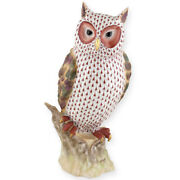 Herend Hungary Porcelain Watchful Owl 05180vh1cd Fishnet Brand New