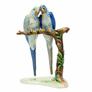Herend Hungary Porcelain Pair Of Macaws 05808vhsp68 Fishnet New Lim Edit Birds