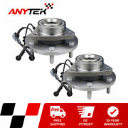 Pair Front Wheel Hub And Bearing Assembly For 2008 2009 2010 Infiniti Qx56 Rwd