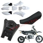 White Motocycle Plastic Fender Faring And Tank And Seat For Dirt Bike Yamaha Ttr110